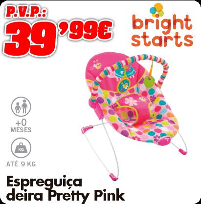 Bright Starts Espreguiçadeira pretty pink